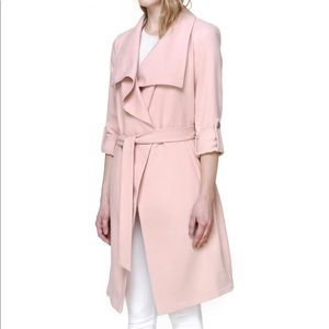 Soia & Kyo Drape Front Trench in Rose